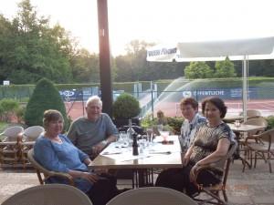 Libby and Nigel Fenwick  with Barbara Heck & Carmela Folgosa