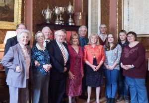 The Landsmann family - to the right - at the Civic Reception on 27 March.